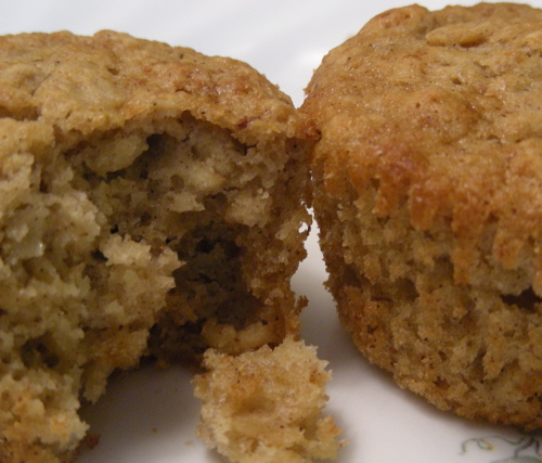National Oatmeal Month and Applesauce Oatmeal Muffins